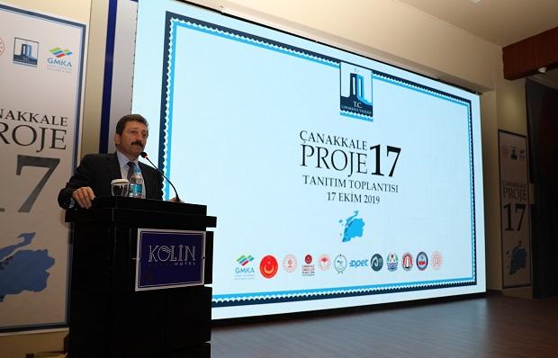 """""""17 Çanakkale -17 Proje"""" Tanıtımı Gerçekleşti"""