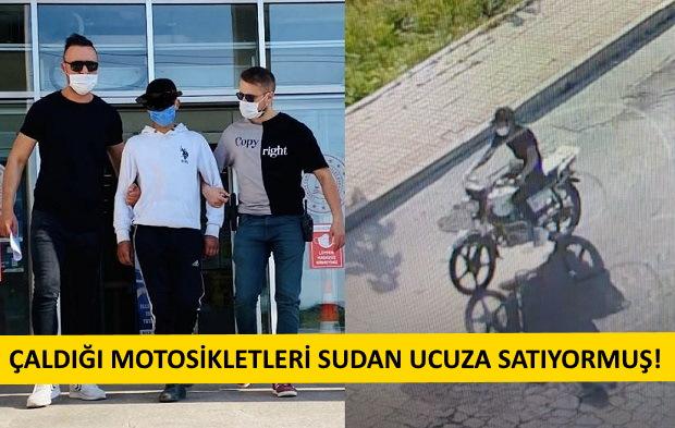 Azılı Motosiklet Hırsızı Kıskıvrak Yakalandı