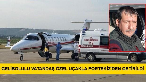 Covid-19'a Yakalandığı Potekiz'den Özel Jetle Getirildi..