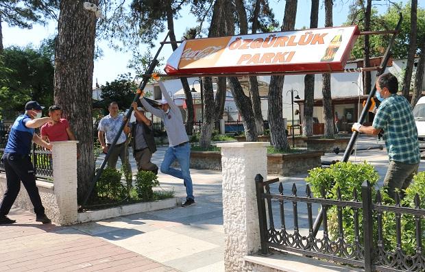 Bayramiç Özgürlük Parkı Yenileniyor
